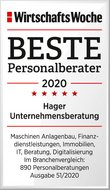 WirtschaftsWoche Best Executive Search Consulting 2020