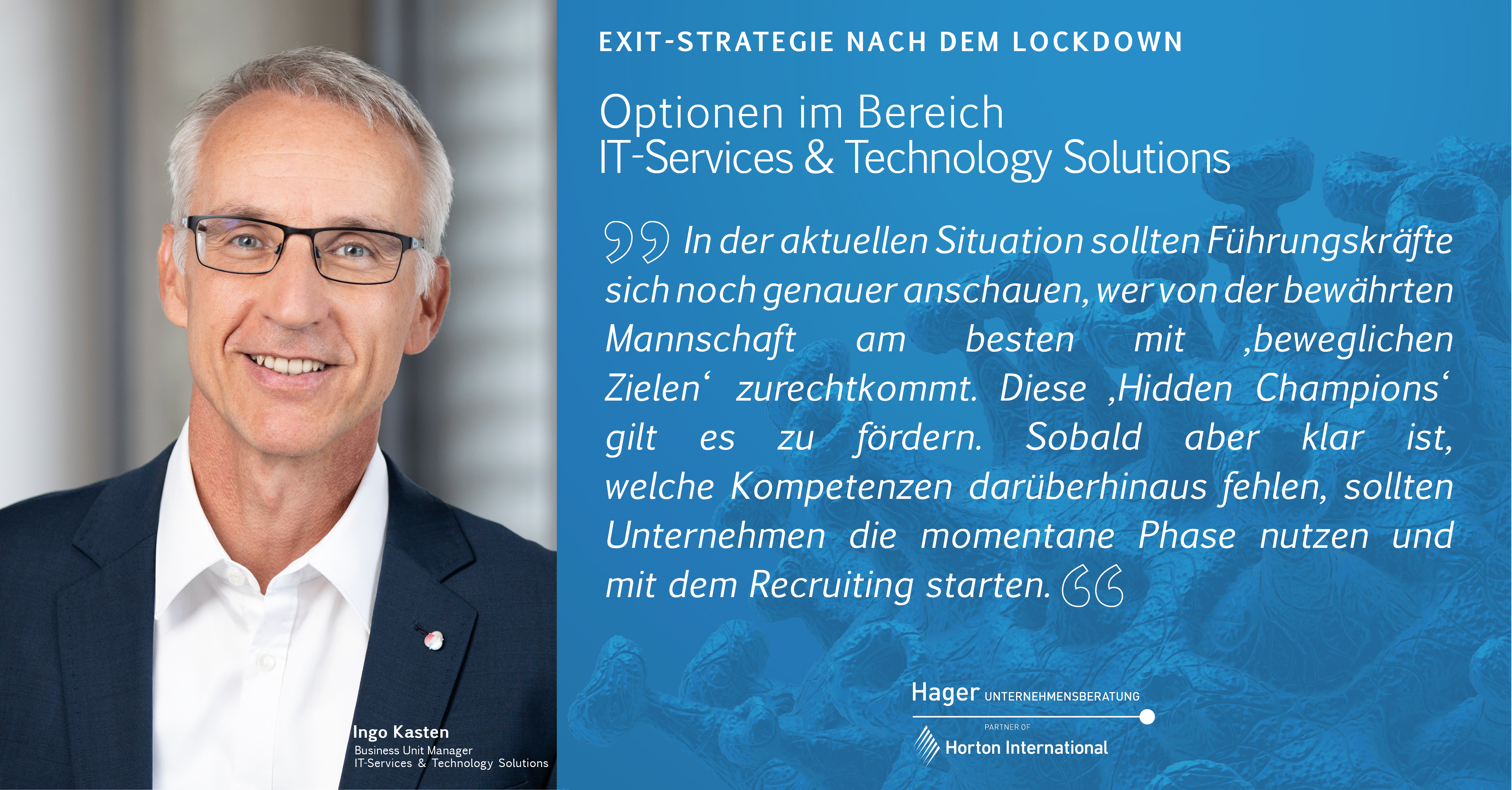 Exit-Strategie nach dem Lockdown - IT Services & Technology Solutions
