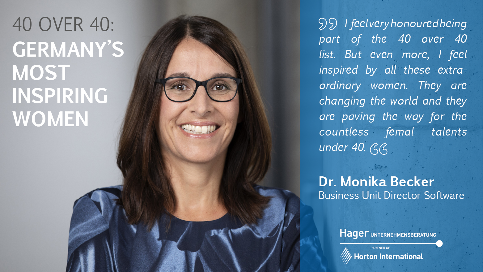 Dr. Monika Becker is one of Germany's most inspiring women